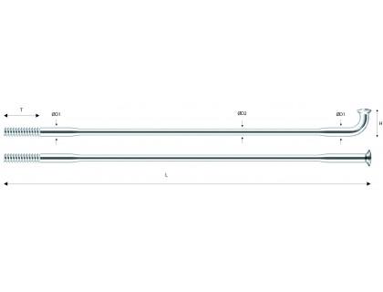 Спиця Pillar PDB1415 довжина 294 мм сірий   Veloparts