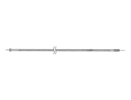 Спиця переднього колеса Shimano WH-RS10 284 мм з ніпелем сріблястий | Veloparts