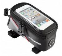 """Сумка на раму під смартфон Roswheel 6.5"""" 12496L-C5 чорний/червоний"""