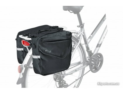 Сумка на багажник KLS Adventure 20 (об'єм 20 л) чорний | Veloparts