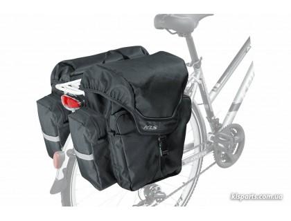 Сумка на багажник KLS Adventure 40 (об'єм 40 л) чорний | Veloparts