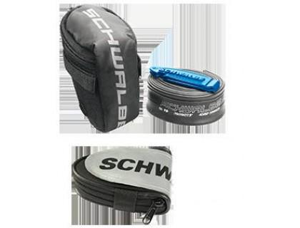 Підсідельна гоночна сумка Schwalbe в комплеті з камерою 26in та двома монтувальними лопатками | Veloparts