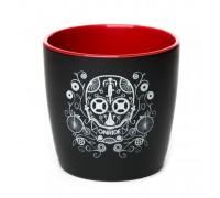 Чашка ONRIDE Skull деколь чорний/червоний