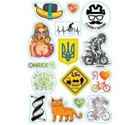 Світловідбиваючі наліпки ONRIDE набір з 15 наклейок