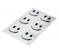 Світловідбиваючі наліпки Longus комплект 6шт білий