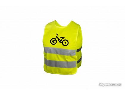 Світловідбиваючий жилет KLS Starlight дитячий bike - M   Veloparts