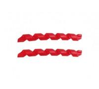 Защита рамы Quaxar Spiral красная
