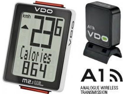 Велокомп'ютер VDO M2.1 WL бездротовий, чорно-білий   Veloparts