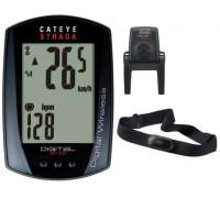 Велокомп`ютер CatEye STRADA Digital Wireless CC-RD 420DW + датчики SPD/HR