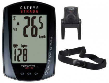 Велокомп`ютер CatEye STRADA Digital Wireless CC-RD 420DW + датчики SPD / HR | Veloparts