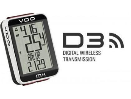 Велокомп'ютер VDO M4 WL бездротовий, чорно-білий | Veloparts
