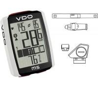 Велокомп'ютер VDO M5 WL бездротовий, +датчик пульсу та педалювання чорно-білий