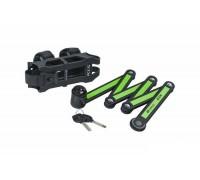 Велозамок KLS Tough 30 фолдинговий черный / зеленый
