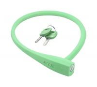 Велозамок KLS Sunny тросовый зеленый