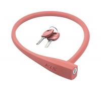 Велозамок KLS Sunny тросовый розовый