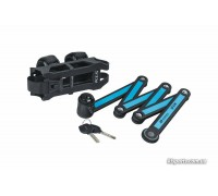 Велозамок KLS Tough 30 фолдінговий чорний/блакитний