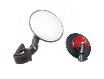 Зеркало DX-2002UF на руль+мигалка | Veloparts