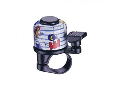Дзвоник NUVO NH-B405AP-T6 хомут 22.2 мм кольоровий | Veloparts