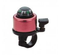 Дзвоник NUVO NH-B406APC Compass хомут 22.2-25.4 мм рожевий