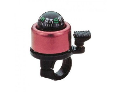 Дзвоник NUVO NH-B406APC Compass хомут 22.2-25.4 мм рожевий | Veloparts