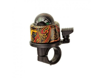 Дзвоник NUVO NH-B406APC-T1 Compass-T1 хомут 22.2-25.4 мм кольоровий | Veloparts