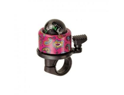 Дзвоник NUVO NH-B406APC-T2 Compass-T2 хомут 22.2-25.4 мм кольоровий   Veloparts
