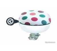 Дзвоник на кермо KLS Bell 80 кольорівій горошок
