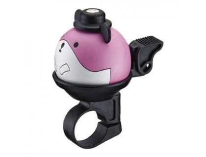 Дзвоник NUVO NH-B437AP-P01 хомут 22.2 мм рожевий | Veloparts