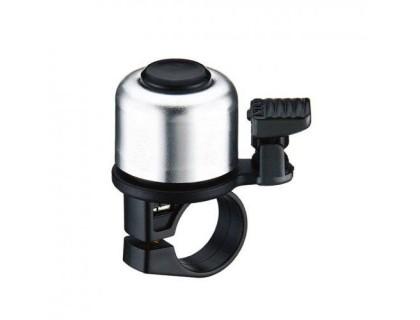 Дзвоник NUVO NH-B405AP хомут 22.2 мм сріблястий | Veloparts